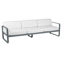 Bellevie Outdoor 3 Seater Sofa - Storm Grey/Off White