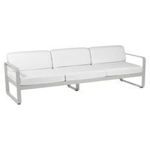 Bellevie Outdoor 3 Seater Sofa - Steel Grey/Off White