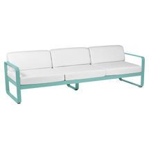 Bellevie Outdoor 3 Seater Sofa - Lagoon Blue/Off White