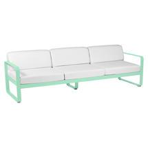 Bellevie Outdoor 3 Seater Sofa - Opaline Green/Off White
