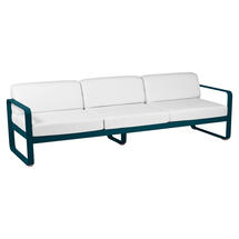 Bellevie Outdoor 3 Seater Sofa - Acapulco Blue/Off White