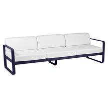 Bellevie Outdoor 3 Seater Sofa - Deep Blue/Off White