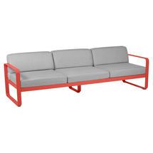 Bellevie Outdoor 3 Seater Sofa - Capucine/Flannel Grey