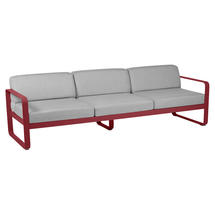 Bellevie Outdoor 3 Seater Sofa - Chilli/Flannel Grey