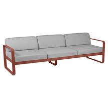 Bellevie Outdoor 3 Seater Sofa - Red Ochre/Flannel Grey