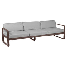 Bellevie Outdoor 3 Seater Sofa - Russet/Flannel Grey