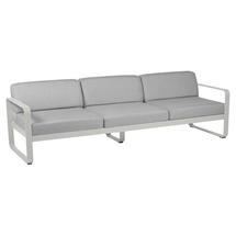 Bellevie Outdoor 3 Seater Sofa - Steel Grey/Flannel Grey