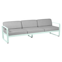 Bellevie Outdoor 3 Seater Sofa - Ice Mint/Flannel Grey