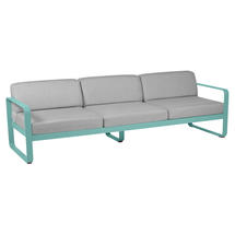 Bellevie Outdoor 3 Seater Sofa - Lagoon Blue/Flannel Grey
