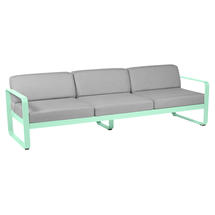 Bellevie Outdoor 3 Seater Sofa - Opaline Green/Flannel Grey