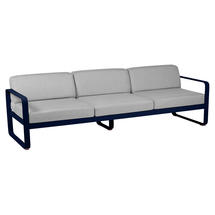Bellevie Outdoor 3 Seater Sofa - Deep Blue/Flannel Grey