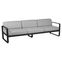 Bellevie Outdoor 3 Seater Sofa - Liquorice/Flannel Grey