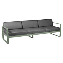 Bellevie Outdoor 3 Seater Sofa - Cactus/Graphite Grey