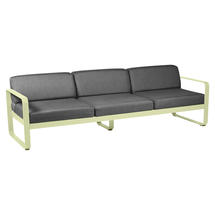 Bellevie Outdoor 3 Seater Sofa - Frosted Lemon/Graphite Grey
