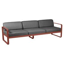 Bellevie Outdoor 3 Seater Sofa - Red Ochre/Graphite Grey