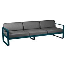 Bellevie Outdoor 3 Seater Sofa - Acapulco Blue/Graphite Grey
