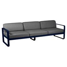 Bellevie Outdoor 3 Seater Sofa - Deep Blue/Graphite Grey