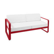 Bellevie Outdoor 2 Seater Sofa - Poppy/Off White