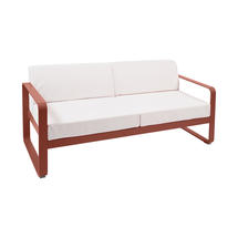 Bellevie Outdoor 2 Seater Sofa - Red Ochre/Off White