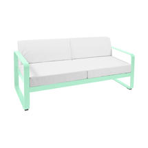Bellevie Outdoor 2 Seater Sofa - Opaline Green/Off White