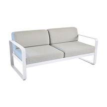 Bellevie Outdoor 2 Seater Sofa - Cotton White/Flannel Grey