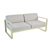 Bellevie Outdoor 2 Seater Sofa - Willow Green/Flannel Grey