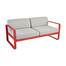 Bellevie Outdoor 2 Seater Sofa - Capucine/Flannel Grey