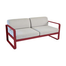 Bellevie Outdoor 2 Seater Sofa - Chilli/Flannel Grey