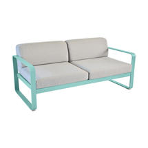 Bellevie Outdoor 2 Seater Sofa - Lagoon Blue/Flannel Grey