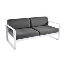 Bellevie Outdoor 2 Seater Sofa - Cotton White/Graphite Grey