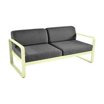 Bellevie Outdoor 2 Seater Sofa - Frosted Lemon/Graphite Grey