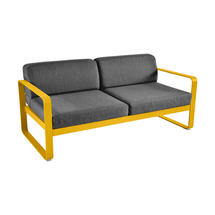 Bellevie Outdoor 2 Seater Sofa - Honey/Graphite Grey