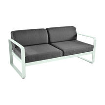 Bellevie Outdoor 2 Seater Sofa - Ice Mint/Graphite Grey