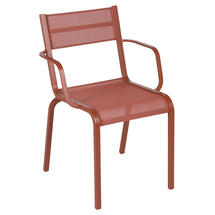 Oleron Armchairs x 4 - Stereo Red Ochre