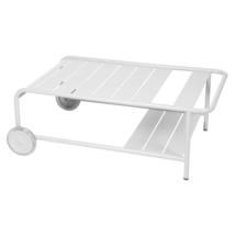 Luxembourg Low Table with Casters - Cotton White