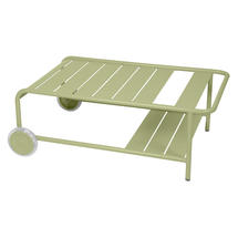 Luxembourg Low Table with Casters - Willow Green