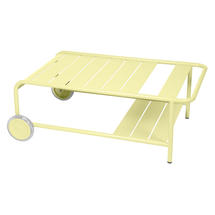 Luxembourg Low Table with Casters - Frosted Lemon