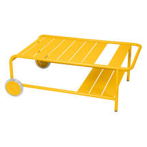 Luxembourg Low Table with Casters - Honey