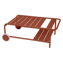 Luxembourg Low Table with Casters - Red Ochre