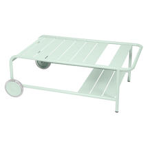 Luxembourg Low Table with Casters - Ice Mint