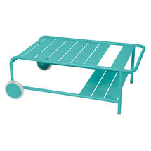 Luxembourg Low Table with Casters - Lagoon Blue