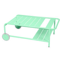Luxembourg Low Table with Casters - Opaline Green