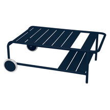 Luxembourg Low Table with Casters - Deep Blue
