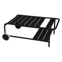 Luxembourg Low Table with Casters - Liquorice