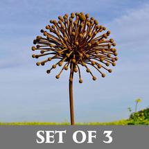 Rusted Seedhead - Set of 3