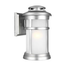 Newport 1 Light Wall Lantern Painted Brushed Steel - Medium