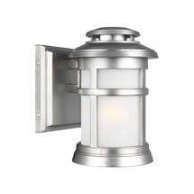 Newport 1 Light Wall Lantern Painted Brushed Steel - Small