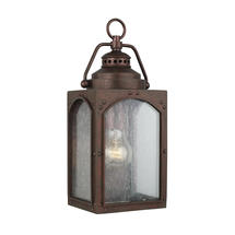 Randhurst 1 Light Small Wall Lantern Copper Oxide