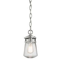 Lyndon  Hanging Chain Lantern - Brushed Aluminum