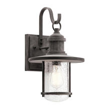 Riverwood Large Wall Lantern - Weathered Zinc
